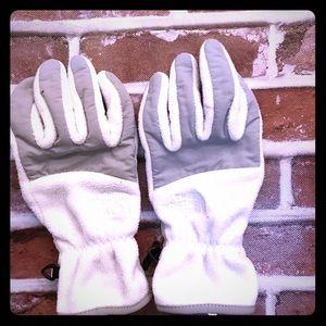 The North Face fleece gloves Medium